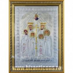Icoana cu foita argintata - Sfintii Martiri Brancoveni