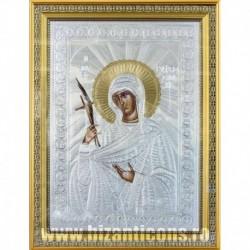 Icoana cu foita argintata - Sfanta Eufrosina