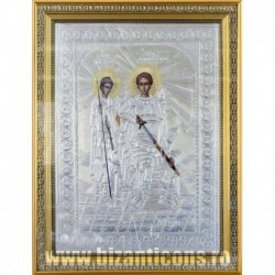 Icoana cu foita argintata - Sfantul Nestor