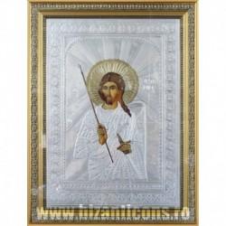 Icoana cu foita argintata - Sfantul Artemie