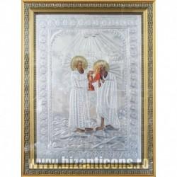 Icoana cu foita argintata - Sfanta Maria Egipteanca