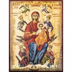 Maica Domnului Pantanassa cu Profetii David, Solomon, Isaia si Daniel