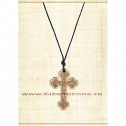 24-21 colier ata + cruce lemn Bizantina 12/set
