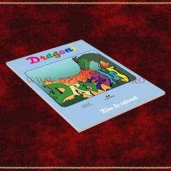 Dragoni, bloc de colorat