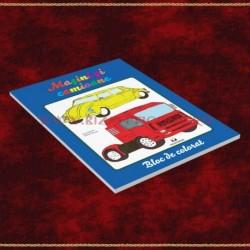 Masini si camioane, bloc de colorat