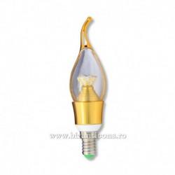 Bec lumanare LED E14 W3 - lumina alba