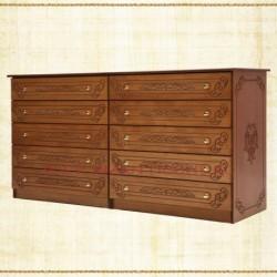 Dulap 10 sertare - lemn sculptat