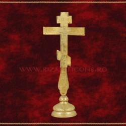 Cruce Binecuvantare Aurita - ruseasca 27cm + BAZA detasabila