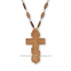 Cruce pectorala lemn - ruseasca