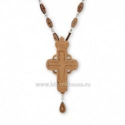 Cruce pectorala lemn - bizantina