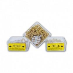 FITILE GALBENE parafina cu pluta cutie patrata - 12/punga