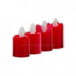 Candela cu baterii - rosie