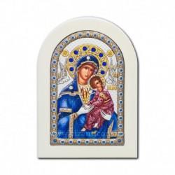 Icoana argintata - Maica Domnului Amolintos - Neintinata 10x14 cm
