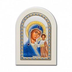 Icoana argintata - Maica Domnului din Kazan 10x14 cm