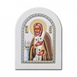 Icoana Ag925 lemn alb Sf Serafim