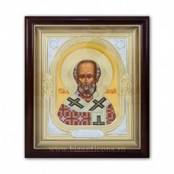 ICOANA rama aurita si argintata - tempera Sf Nicolae