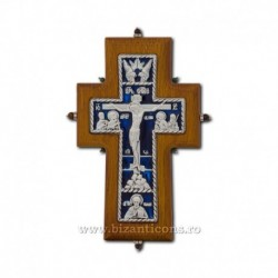 Cruce lemn + metal - perete