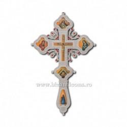 Cruce Binecuvantare Argintie - cu icoana