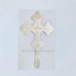 Cruce Binecuvantare Argintata - mica - gravataa