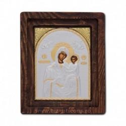 Icoana Ag925 Maica Domnului Grabnic Ascultatoare 11,5x14 cm