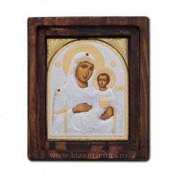 Icoana Ag925 Maica Domnului Jerusalem 11,5x14 cm
