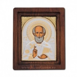 Icoana Ag925 Sfantul Ierarh Nicolae 11,5x14 cm