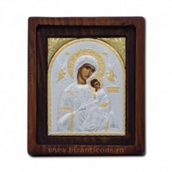 Icoana Ag925 Maica Domnului Amolintos - Neintinata 11,5x14 cm