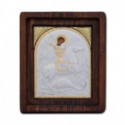 Icoana Ag925 Sfantul Mare Mucenic Gheorghe 11,5x14 cm
