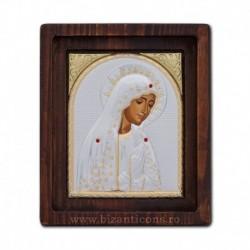 Icoana Ag925 Maica Domnului de la Fatima 11,5x14 cm