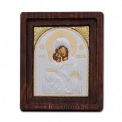Icoana Ag925 Maica Domnului Vladimir 11,5x14 cm
