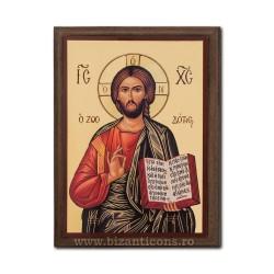 Icoana pe lemn - fond auriu 19,5x26,5 - Iisus