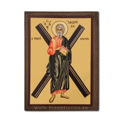 1830-118 Icoana fond auriu 19,5x26,5 - Sf Andrei