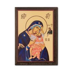 1830-411 Icoana fond auriu 19,5x26,5 - MD Dulcea Sarutare - dreapta