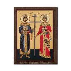 1830-011 Icoana fond auriu 19,5x26,5 - Sf Constantin si Elena
