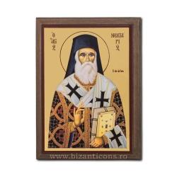 1830-114 Icoana fond auriu 19,5x26,5 - Sf Nectarie