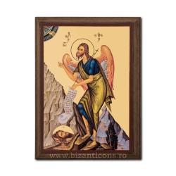 Icoana pe lemn - fond auriu 19,5x26,5 - Sf Ioan Botezatorul
