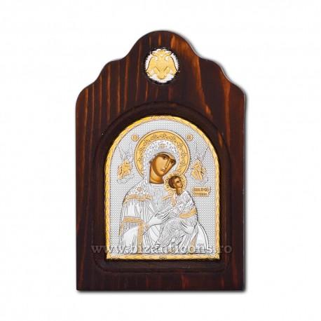 ICOANA lemn Ag925 MD Amolintos - Neintinata 12x18 BK3-008XAG