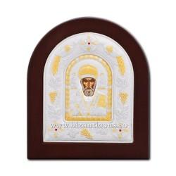 Icoana Ag925 lemn Sf Nicolae 12x14 PS30-009