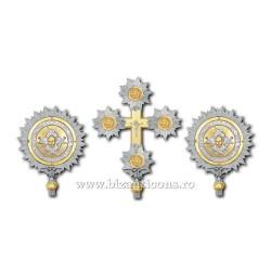 SET 2 Heruvimi + Cruce aurit si argintat - X29-254 / 23-128