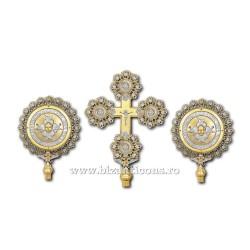 SET 2 Heruvimi + Cruce aurit si argintat - X30-257 / 24-131