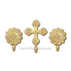 SET 2 Heruvimi + Cruce - aurit - mediu X26-136