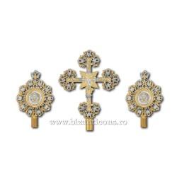 SET 2 Heruvimi + Cruce - aurit si argintat - mic X29-144