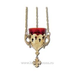 CANDELA lant bronz - trafor cruci - mica 8cm V587B