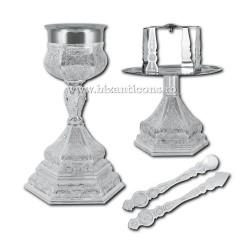 Sfinte Vase 0,6 litri - argintat X19-170