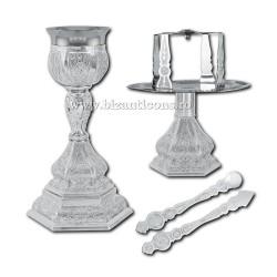 Sfinte Vase 0,35 litri - argintat X19-172